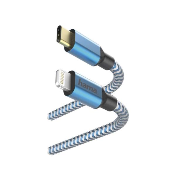 Кабель для iPod, iPhone, iPad Hama 1,5 м Lightning USB Type-C Blue (00183311) синего цвета