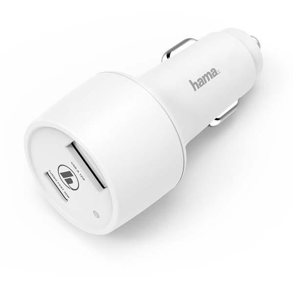 Автомобильное зарядное устройство Hama PD/QC 3A White (00183322)