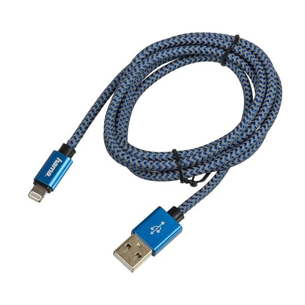 Кабель для iPod, iPhone, iPad Hama 1,5 м Lightning USB A Blue (00178300) синего цвета