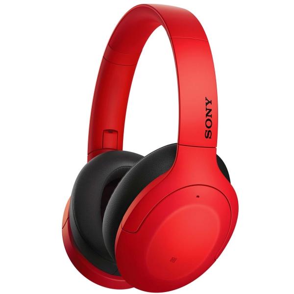 Наушники с шумоподавлением Bluetooth Sony WH-H910N Red
