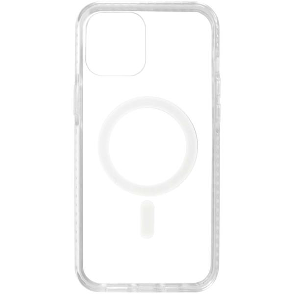 Чехол InterStep MAGSAFE CLEAR iPhone 12 / 12 Pro прозрачный