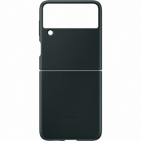 Samsung Galaxy Z Flip3 Leather Cover Green (EF-VF711) Galaxy Z Flip3 Leather Cover Green (EF-VF711) зеленого цвета
