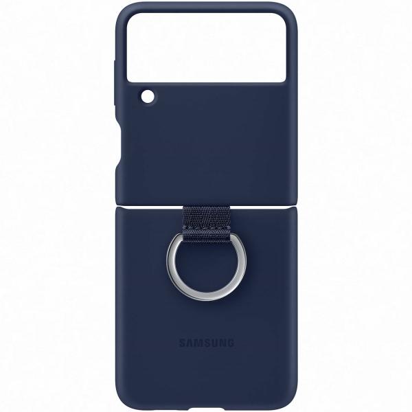 Samsung Galaxy Z Flip3 Silicon Cover Ring Navy EF-PF711 темно-синего цвета
