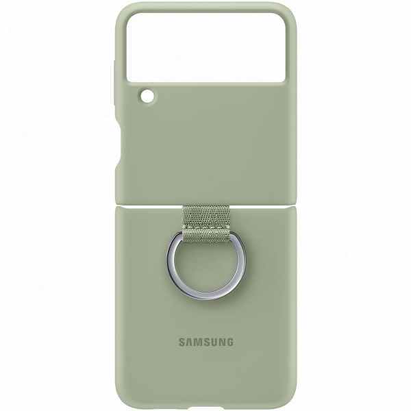 Samsung Galaxy Z Flip3 Silicone Cover Ring Olive Green оливкового цвета
