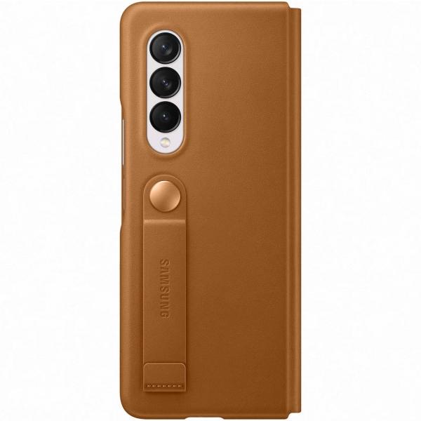 Samsung Galaxy Z Fold3 Leather Flip Cover Camel EF-FF926 коричневого цвета