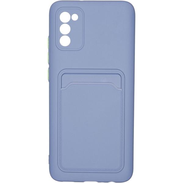 Carmega Samsung Galaxy A02S Card blue синего цвета