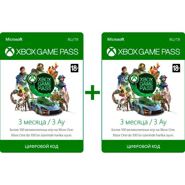 Подписка Xbox Microsoft Game pass 3+3 bundle