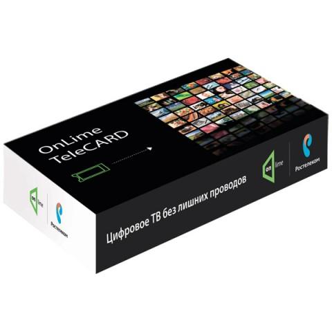 Фотография товара комплект цифрового ТВ OnLime TeleCard (только для Москвы) (10001867)