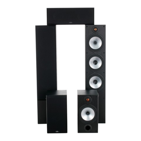 Фотография товара комплект акустических систем Monitor Audio Monitor Reference 5.0 System Black Oak (10001879)