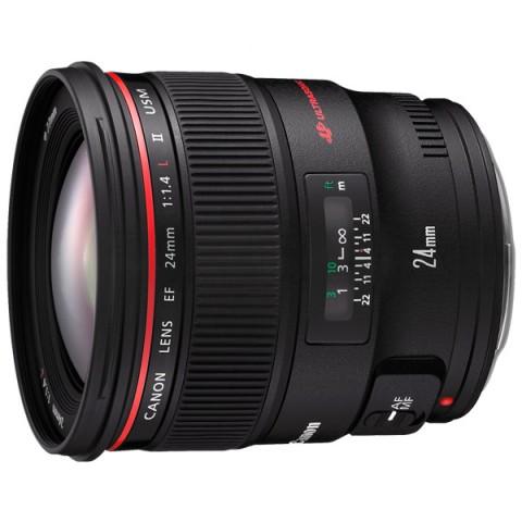 Купить объектив премиум Canon EF 24mm f/1.4L II USM (10005114) в Москве, в Спб и в России