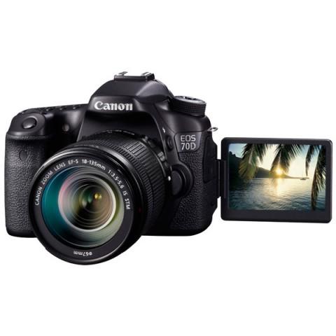 Купить фотоаппарат зеркальный Canon EOS 70D (W) EF-S 18-135 IS STM Kit (10005287) в Москве, в Спб и в России
