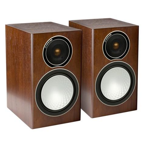 Фотография товара полочные колонки Monitor Audio Silver 1 Walnut (10005508)