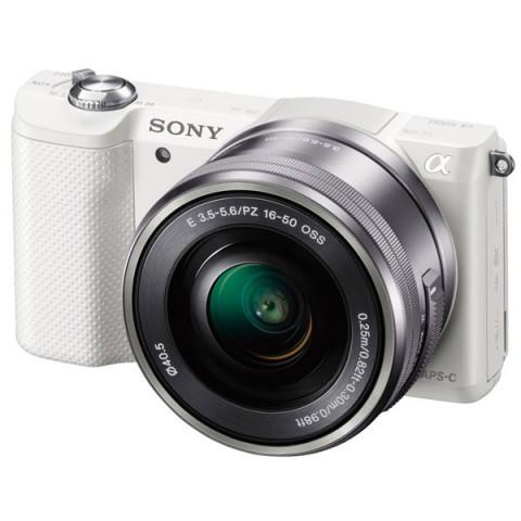 Фотография товара фотоаппарат системный Sony Alpha A5000 Kit 16-50 White (10005788)