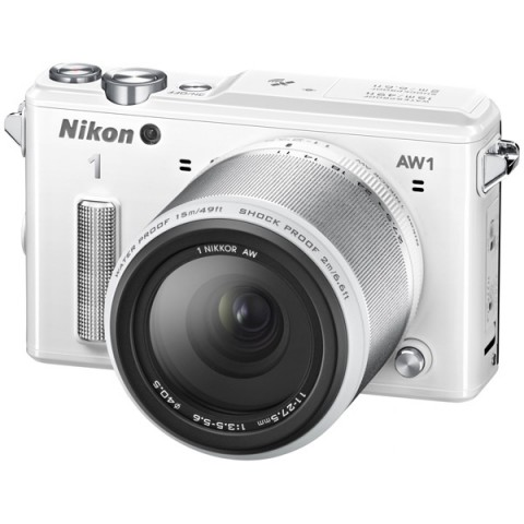 Фотография товара фотоаппарат системный Nikon 1 AW1 11-27.5 Kit White (10005796)