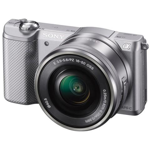 Купить фотоаппарат системный Sony Alpha A5000 Kit 16-50 Silver (10005800) в Москве, в Спб и в России