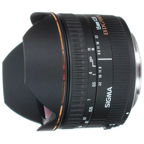Фотография товара объектив Sigma 15mm f/2.8 EX DG DIAGONAL FISHEYE Canon (10005948)