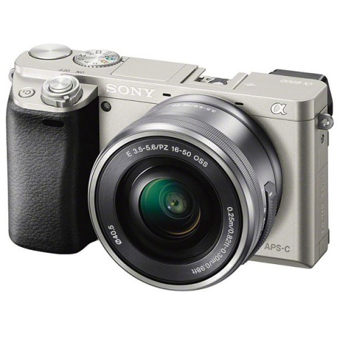 Купить фотоаппарат системный Sony Alpha A6000 Kit 16-50 Silver (10006255) в Москве, в Спб и в России