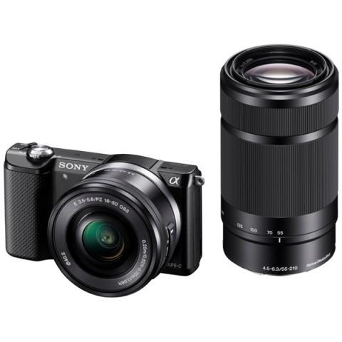 Купить фотоаппарат системный Sony Alpha A5000 Kit 16-50/55-210 Black (10006535) в Москве, в Спб и в России