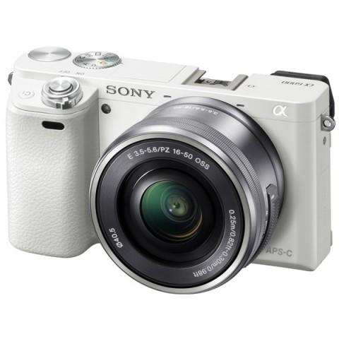 Купить фотоаппарат системный Sony Alpha A6000 Kit 16-50 White (10007405) в Москве, в Спб и в России