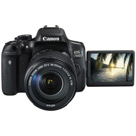 Фотография товара фотоаппарат зеркальный Canon EOS 750D Kit 18-135 IS STM Black (10007980)