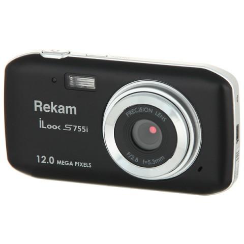 Фотография товара фотоаппарат компактный Rekam iLook S755i Black (10009239)
