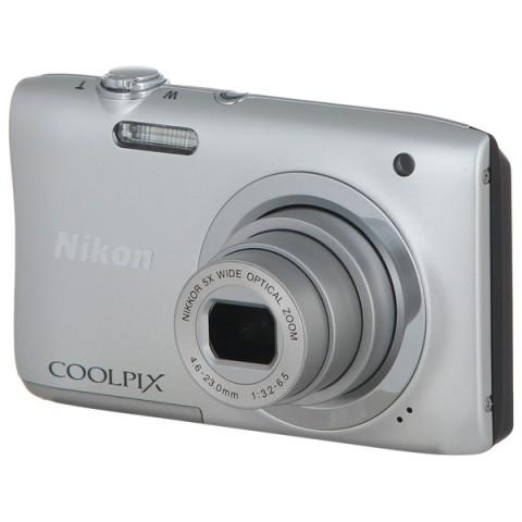 Фотография товара фотоаппарат компактный Nikon Coolpix A100 Silver (10009580)
