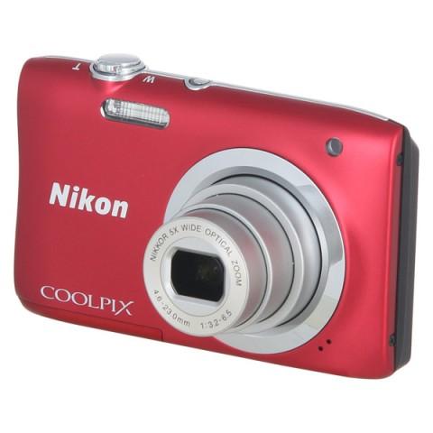 Фотография товара фотоаппарат компактный Nikon Coolpix A100 Red (10009581)