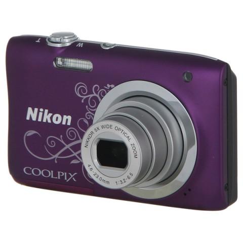 Фотография товара фотоаппарат компактный Nikon Coolpix A100 Purple Lineart (10009584)