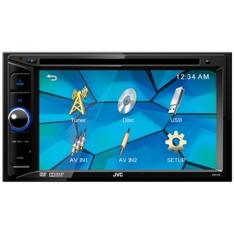 Фотография товара автомобильная магнитола с DVD + монитор JVC KW-V12 (10010263)