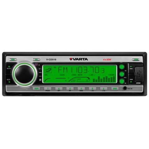 Фотография товара автомобильная магнитола с CD MP3 Varta V-CD510 Silver G (10010517)