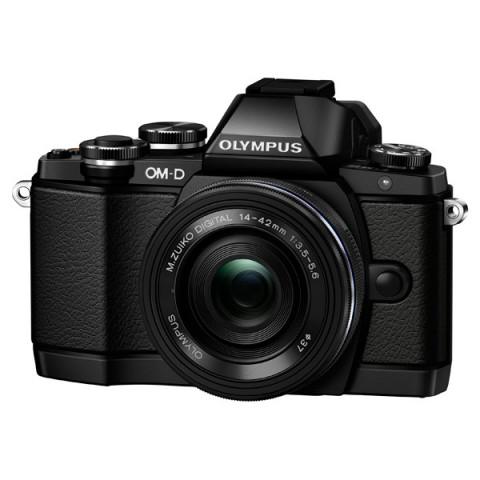 Фотография товара фотоаппарат системный Olympus E-M10 Pancake Zoom Kit Black (10010580)