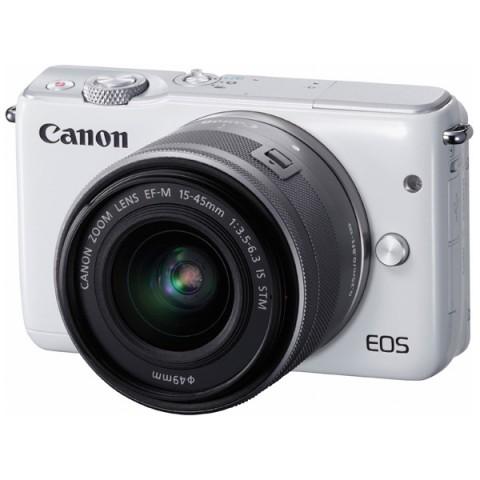 Фотография товара фотоаппарат системный Canon EOS M10 White + EF-M 15-45 IS STM Silver (10010912)