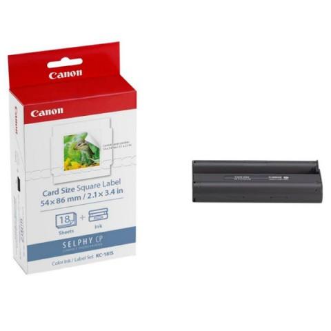 Фотография товара набор для компактного принтера Canon Картридж + фотобумага KC-18IS (10011016)