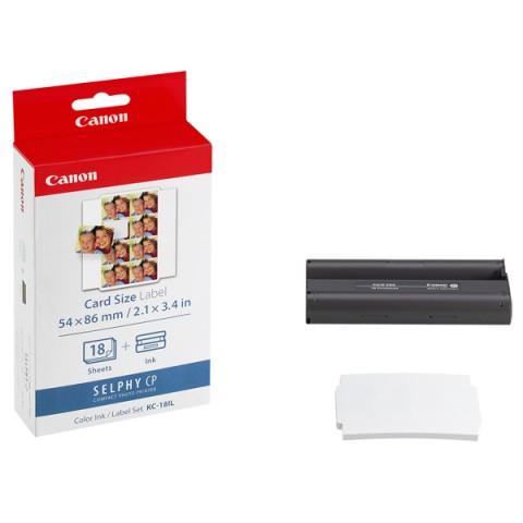 Фотография товара набор для компактного принтера Canon Картридж + фотобумага KC-18ILL (10011017)