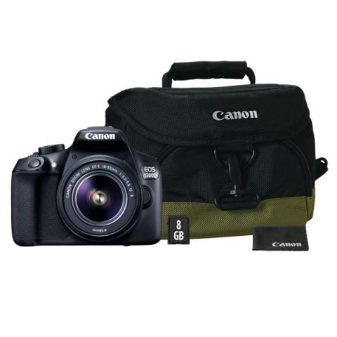 Фотография товара фотоаппарат зеркальный Canon EOS 1300D+EF-S 18-55 IS+сумка 100EG+карта 8Gb (10011584)