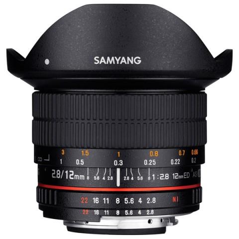 Фотография товара объектив Samyang 12mm f/2.8 ED AS NCS Fish-eye Canon EF (10011772D)