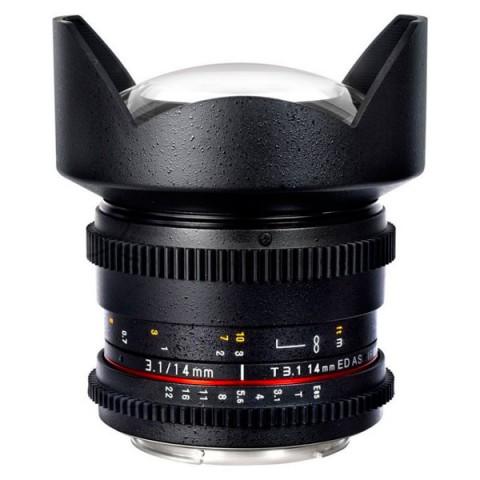 Фотография товара объектив Samyang 14mm T3.1 ED AS IF UMC VDSLR II Canon EF (10011789)