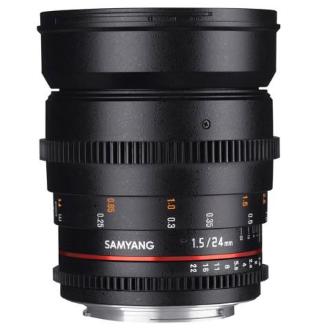 Фотография товара объектив Samyang 24mm T1.5 ED AS UMC VDSLR Canon EF (10011792D)
