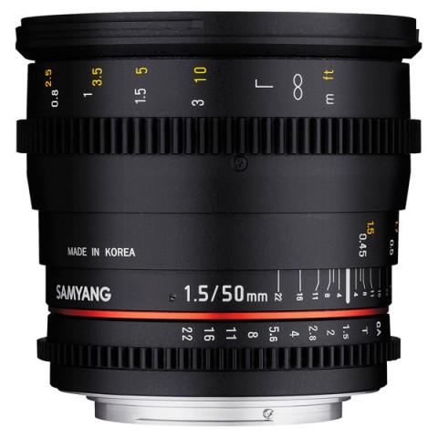 Фотография товара объектив Samyang 50mm T1.5 AS UMC VDSLR Canon EF (10011794D)