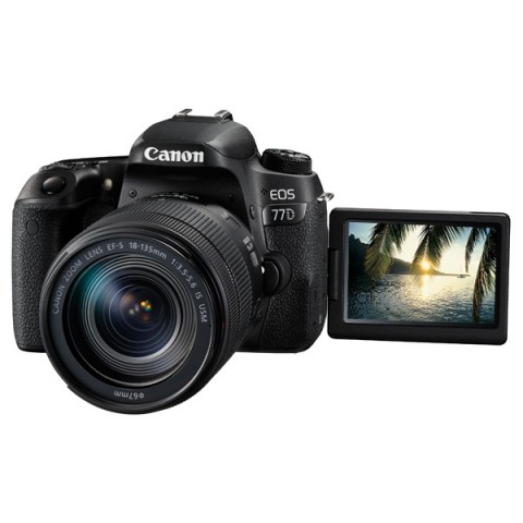 Фотография товара фотоаппарат зеркальный Canon EOS 77D EF-S 18-135 IS USM Kit (10011846)