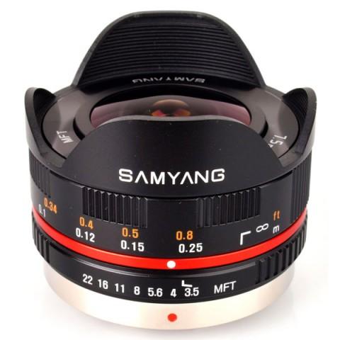 Фотография товара объектив Samyang 7.5mm f/3.5 AS IF UMC Fish-eye micro 4/3 Black (10011964D)