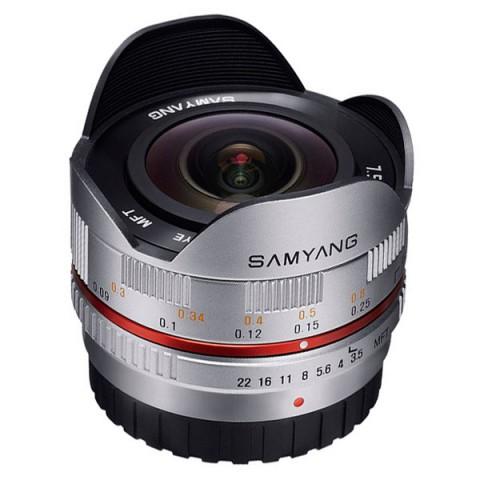 Фотография товара объектив Samyang 7.5mm f/3.5 AS IF UMC Fish-eye micro 4/3 Silver (10011965D)