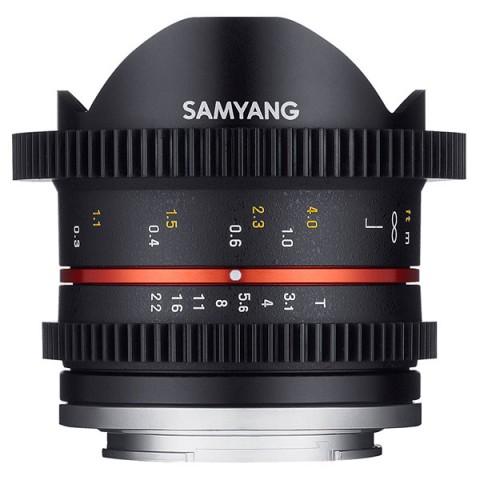 Фотография товара объектив Samyang 8mm T3.1 Fish-eye CINE Fujifilm X (10012013D)