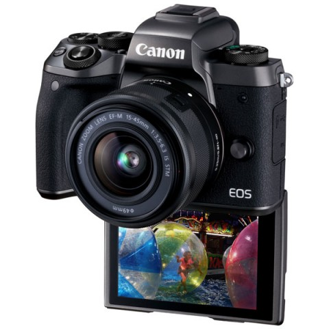 Фотография товара фотоаппарат системный премиум Canon EOS M5 EF-M15-45 IS STM Kit (10012102)