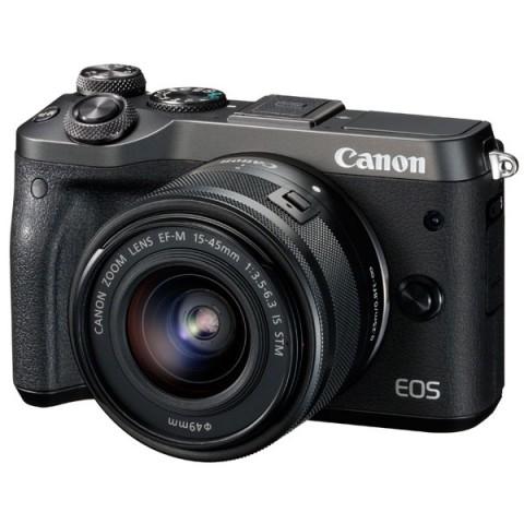 Фотография товара фотоаппарат системный премиум Canon EOS M6 EF-M15-45 IS STM Kit (10012111)