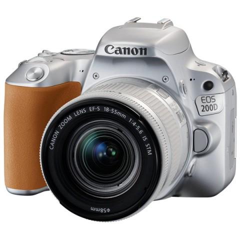 Купить фотоаппарат зеркальный Canon EOS 200D EF-S 18-55 IS STM Kit Silver (10012705) в Москве, в Спб и в России