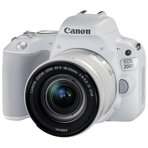 Фотография товара фотоаппарат зеркальный Canon EOS 200D EF-S 18-55 IS STM Kit White (10012706)