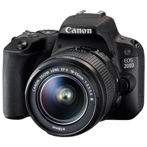 Фотография товара фотоаппарат зеркальный Canon EOS 200D EF-S 18-55 III Kit Black (10012707)