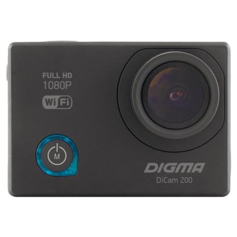 Фотография товара видеокамера экшн Digma DiCam 200 черный (10013051)