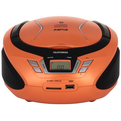 Фотография товара магнитола Telefunken TF-CSRP3495B Orange (10013073)
